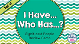 """Social Studies """"I Have... Who Has...?"""" - 8th Grade GMAP Review (Set 1 of 2)"""
