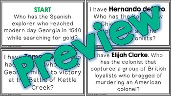 "Social Studies ""I Have... Who Has...?"" - 8th Grade GMAP Review (Set 1 of 2)"