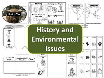 Sixth Grade Social Studies Interactive Notebook Foldables & Worksheets