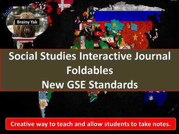 6th Grade Social Studies Interactive Notebook Foldables &