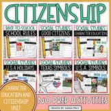Good Citizenship, Customs and Celebrations Social Studies Bundle