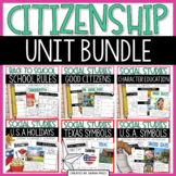 Good Citizenship, Customs and Celebrations Social Studies Bundle