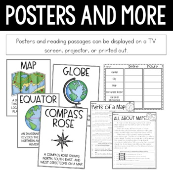 Geography Social Studies Interactive Notebook Activities