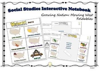 Social Studies Interactive NB Westward Expansion Foldable