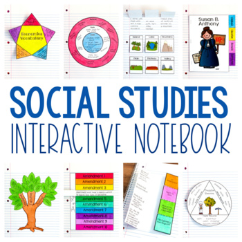 Social Studies Interactive Notebook - Print or Distance Learning