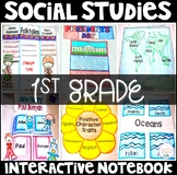 Social Studies Interactive Notebook for 1st Grade