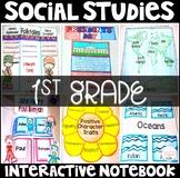 Social Studies Interactive Notebook for 1st Grade