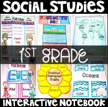 Social Studies Interactive Notebook 1st Grade