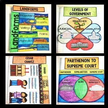 Social Studies Interactive Notebook for 3rd Grade