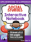 First Grade Social Studies Interactive Notebook