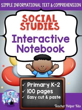 First Grade Social Studies Interactive Notebook