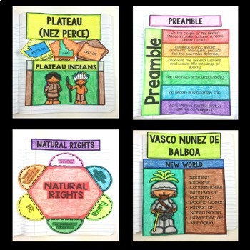 Social Studies Interactive Notebook for 4th Grade - Indians, Explorers, & More!
