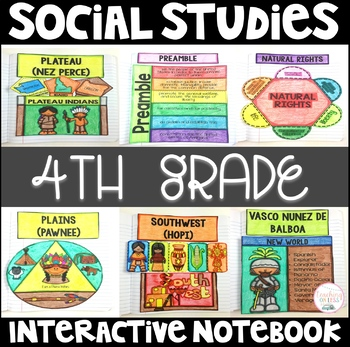 Social Studies Interactive Notebook for 4th Grade