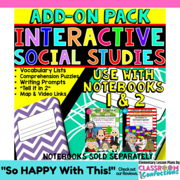Social Studies Interactive Notebook [American History] ADD ON pack: US History