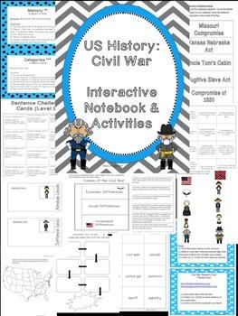 Social Studies Interactive Notebook & Activities 5th Grade
