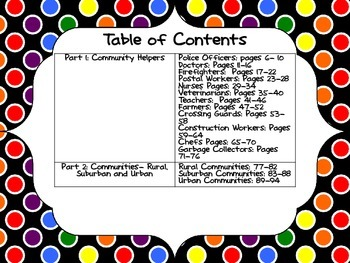 Social Studies Interactive Notebook: Community Helpers and Communities