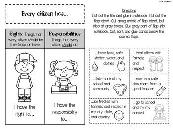 Social Studies Interactive Notebook - First Grade - Standard 1