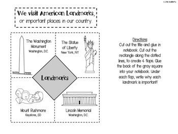 Social Studies Interactive Notebook - First Grade - Standard 3