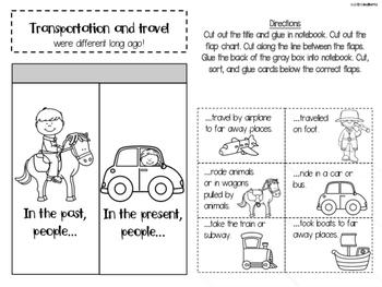 Social Studies Interactive Notebook - First Grade - Standard 4
