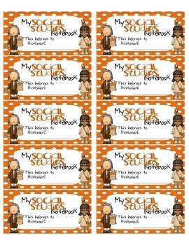 Social Studies Interactive Notebook Labels By Ivey League