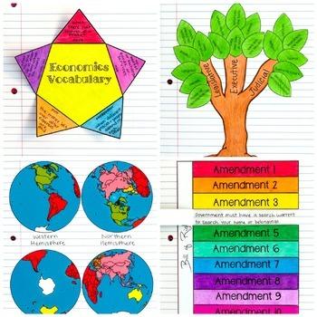 Social Studies Interactive Notebook & Passages Bundle
