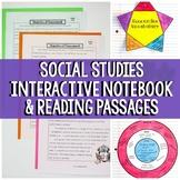 Social Studies Interactive Notebook & Passages Bundle | Distance Learning