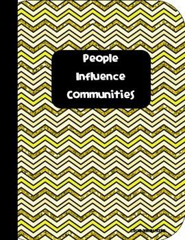 Social Studies Interactive Notebook People Influence Communities