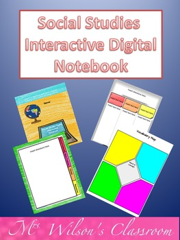 Google Social Studies Digital Interactive Notebook