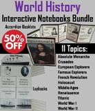 World History Interactive Notebooks Bundle: Middle Ages, Renaissance, etc.