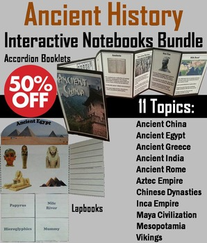 Ancient Civilizations Interactive Notebooks: China, Egypt, Greece, Rome, etc.