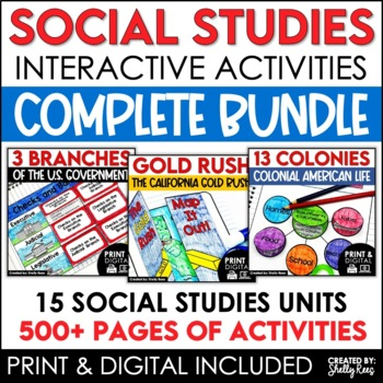 Social Studies Interactive Notebooks, Mini Units, and Activities Mega Bundle