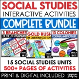 Social Studies Interactive Notebooks, Units, & Activities Bundle