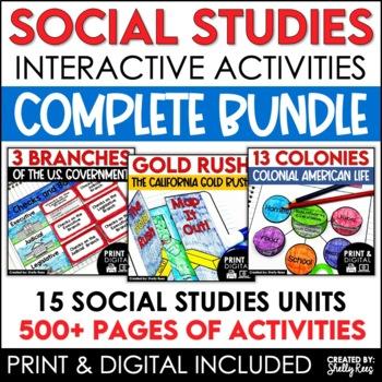 Social Studies Interactive Notebooks & Activities Bundle