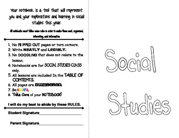Social Studies Interactive Notebooks and Rules