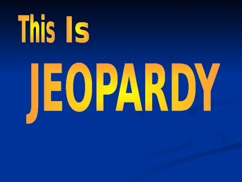 Social Studies Jeopardy Game