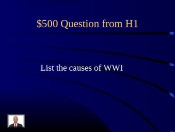 Social Studies Jeopardy SS5H1, H3, H4