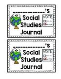 Social Studies Journal Cover