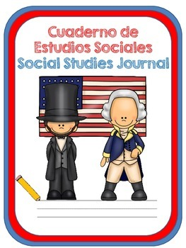 Social Studies Journal Covers for Dual Language