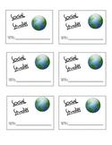 Social Studies Journal Labels
