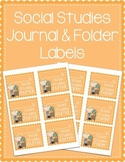Social Studies Journal & Social Studies Folder Labels
