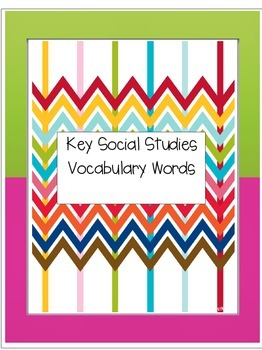 Social Studies Key Vocabulary Words