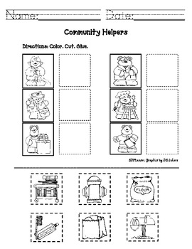 Worksheets Jobs Kindergarten | worksheet example