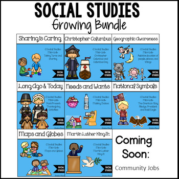 Social Studies Kindergarten Mini-Unit Growing Bundle