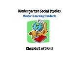 Kindergarten Social Studies Missouri Learning Standards Ch