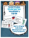 Social Studies Kindergarten Vocab Cards Passport:Self & Others