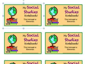 Social Studies Labels