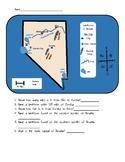 Social Studies Landform Map of Nevada