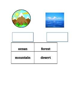 Social Studies Landform worksheet