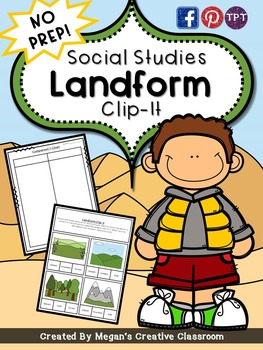 Social Studies Landforms Center {No Prep}