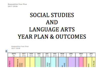 Social Studies & Language Arts Year Plan Overview